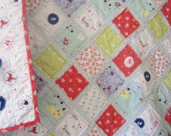 Enchant.........A Fray Edge Quilt.....Baby/Toddler Girl...Shower or Birthday Gift.....Ready to Ship