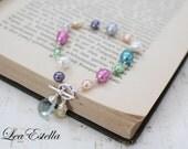 Multi Colour Freshwater Pearl Bracelet Rainbow Pearl Bracelet Aquamarine Bracelet Wire wrapped gemstone bracelet Citrine - Jellybeans