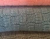 Knitted Baby Afghan/ Blanket,  Light Pink , Light Blue  or Light Gray