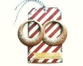 MADDIE Rose Gold Hoop dangle earrings- super trendy and lightweight Anthropolgie style