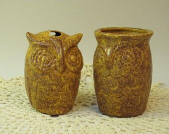 Brown owl tumbler and toothbrush holder (set)