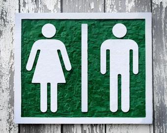 Unisex Bathroom Signs unisex bathroom ada sign 6 x 9 gray click to enlarge unisex bathroom ada sign Wood Restroom Sign Hand Carved Ladies Room Mens Room Unisex Bathroom Sign