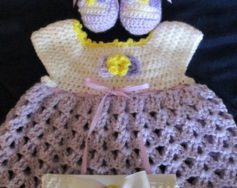 adorable baby dress booties and headband