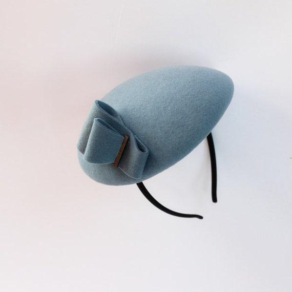 Mini Hat- Blue-Wool Felt