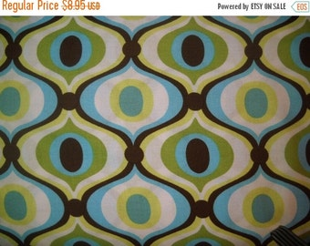 30% OFF store closing One yard Feeling Groovy in Spa at Karens Fabric