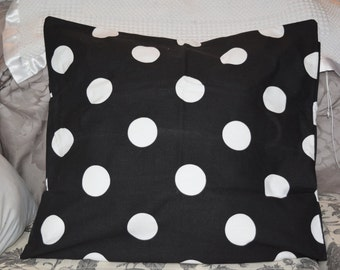 Premier Prints Black and White Dot Pillow cover
