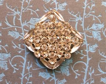 50s rhinestone brooch or pendant