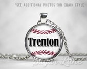 Baseball Necklace - Baseball Mom Necklace - Custom Baseball Pendant - Sports Necklace - Baseball Jewelry - Baseball Mom Jewelry