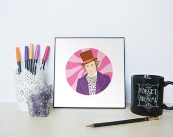 Willy Wonka Portrait, Willy Wonka, Pure Imagination, Willy Wonka and the Chocolate Factory, Wonka, Tribute to Gene Wilder