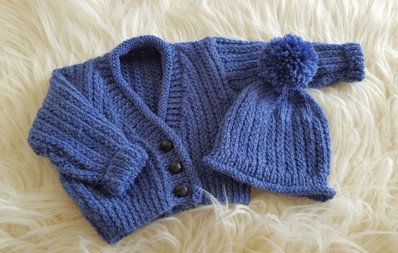 Baby Knitting Pattern Boys Sweater Set - Instant Download ...
