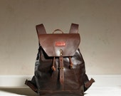 Sandy Rucksack - Chocolate Dark Brown Leather