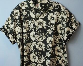Totally Rad 80s Vintage Mens Hawaiian Shirt XL Tiki Surfer Dude