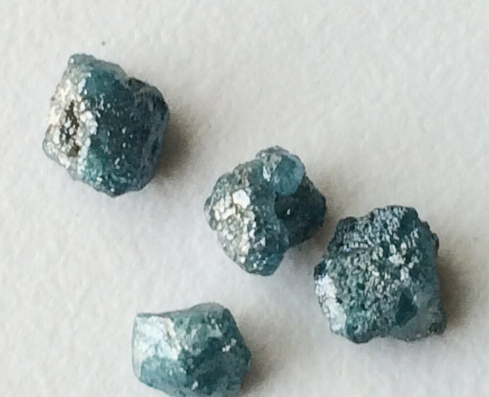 Raw Rough Diamond And Quotes: Blue Diamond, Blue Raw Diamond Crystal, Natural Raw