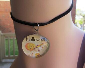 Halloween Glass Cabochon Necklace Pendant Z 97