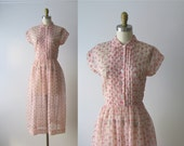 vintage 1950s dress / 50s dress / Among the Fireweed
