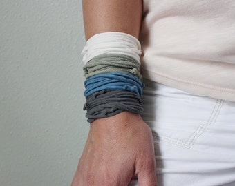 Fiber Bracelet or Necklace Jersey T Shirt Fabric