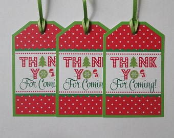 Christmas Cookie Exchange Favor Tags - Cookie Tags - Christmas Cookie Party - Favor Tags - Thank You Tags - Baking Party - Cookie Swap Tags
