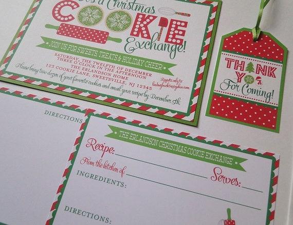 Christmas Cookie Invitation - Cookie Swap Invitation - Cookie Exchange Invitation - Holiday Invitation - Cookie Party - Christmas Party