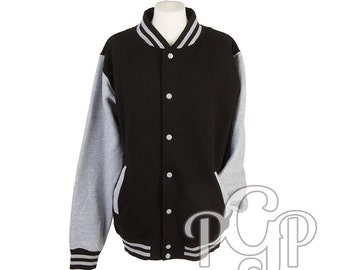 Varsity jacket, roller derby team, team colours, roller derby, varsity jacket in a variety of colours