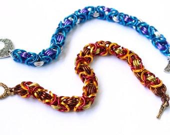Byzantine Chain Mail Bracelet Beginner Chainmaille Kit