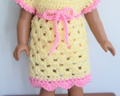 Crochet PATTERN for American Girl doll dress, Instant Download