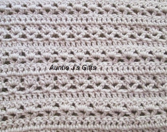 "Crochet PATTERN for beautiful afghan throw, 41""x60"", style #62616"