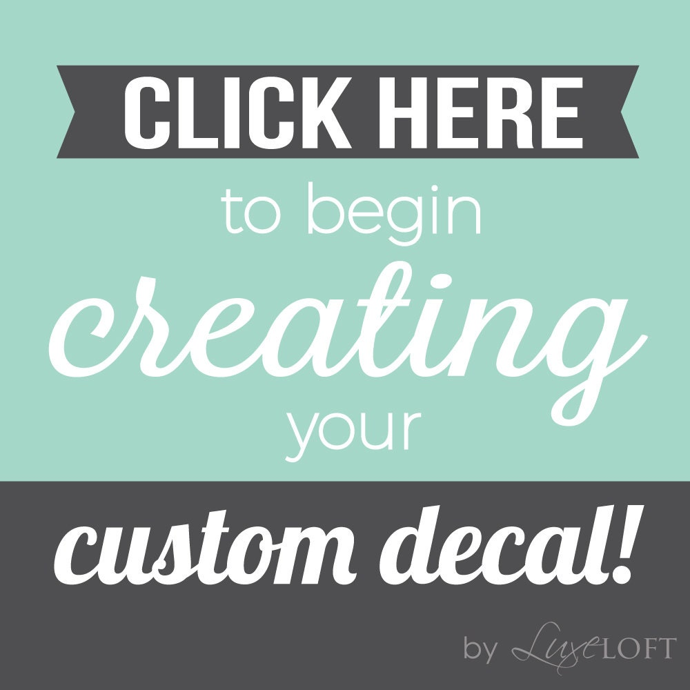 Customize Wall Decal Custom Wall Decals Create Your Own - Custom vinyl stickers logo