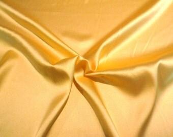 Sunny Yellow Stretch Silk Charmeuse Fabric--One Yard