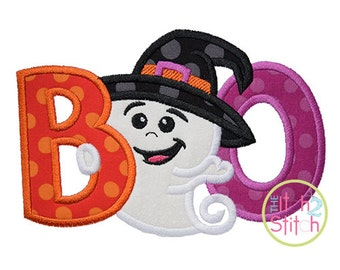 Boo Ghost Applique Design For Machine Embroidery, INSTANT DOWNLOAD now available