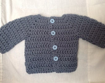 Blue grey sweater for newborn baby