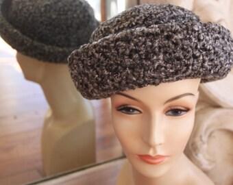 Vintage Gray Faux Karakul Hat