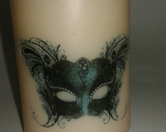 Masquerade Halloween Candles set of two
