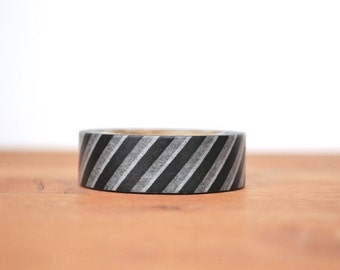 washi tape: black and white stripes