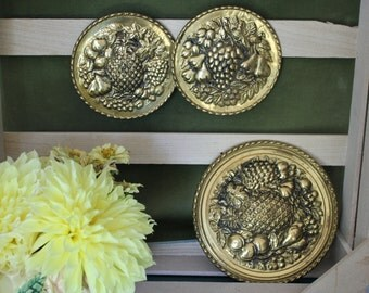 Set of Round Brass Plaques