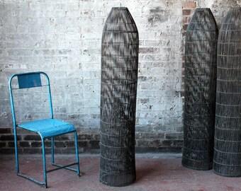 SALE Fish Trap Fixture Black Bamboo Woven Basket Lighting Large Light Restaurant Lighting Commercial Lighting