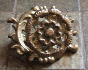 Vintage Ornate Drawer Pull Knob Cabinet Handle