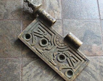 Antique Vintage Door Hinge Piece No.1 of 2 Arts and Crafts Eastlake Style Altered Art Assemblage Restoration Craft Supply