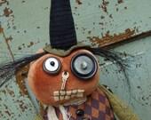 Halloween Folk Art Halloween Witch - Wilma the Wee Wacky Witch