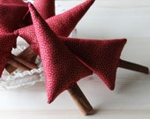 Rustic Christmas tree decor, Cinnamon Christmas Tree, Christmas tree bowl filler, red gold primitive Christmas ornament Christmas gift
