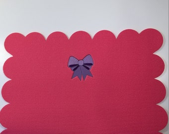Baby yoga mat with bow embroidery