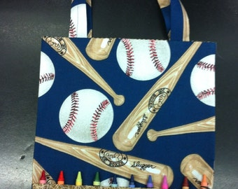 Baseball coloring crayon bag