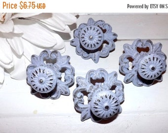 On Sale Shabby Chic Cast Iron Knob /Dresser Knob / Drawer Knob / Cabinet Pull / Lilac Knob / Decorative Knob