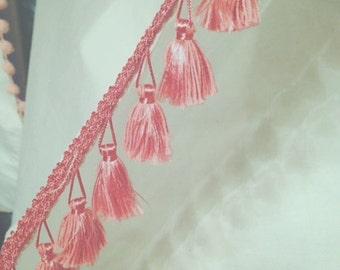 French Tassel Trim Curtain with Tassel tieback