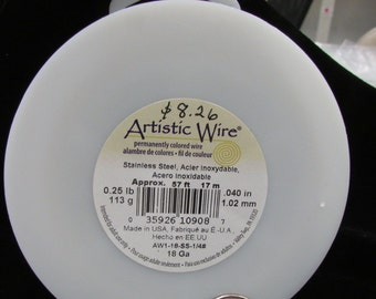 Artistic Wire Stainless Steel 18-gauge wire