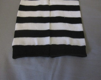 Halloween Baby/Toddler Leg Warmers - White and Black Stripes