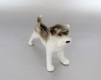 Vintage Ceramic Dog Figurine - Schnauzer