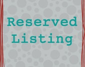 Reserved Listing For DeeDee8825