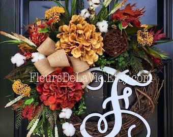 Seasonal Door Wreaths, Fall Door Wreaths, Grapevine Wreaths, Fall Door Wreaths, Autumn Wreaths, Fall Wreath for Door
