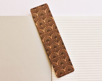 Wood Bookmark // Laser Cut Alder Wood // Floral Design