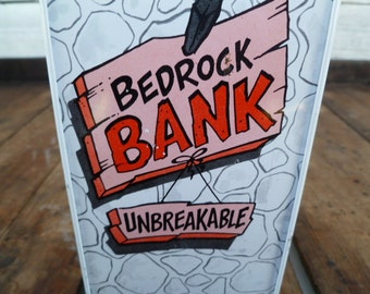 Flintstones Bedrock Bank Unbreakable Metal